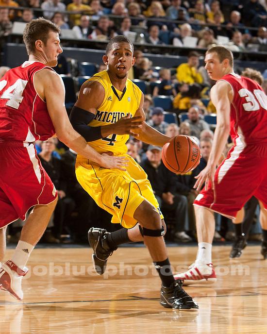 University of Michigan men's men's basketball 53-52 loss to #12 Wisconsin at Crisler Arena  in Ann Arbor, MI, on February 23, 2011.