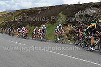 PRO team cyclists near the top of the challenging iconic and notorious 6km 10% stretch of road namely The Tumble during the Wales Velothon 2016 140km route cycling race.  <br /> <br /> <br /> Jeff Thomas Photography -  www.jaypics.photoshelter.com - <br /> e-mail swansea1001@hotmail.co.uk -<br /> Mob: 07837 386244 -