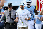 19 November 2016: UNC head coach Larry Fedora. The University of North Carolina Tar Heels hosted the The Citadel, The Military College of South Carolina Bulldogs at Kenan Memorial Stadium in Chapel Hill, North Carolina in a 2016 NCAA Division I College Football game. UNC won the game 41-7.