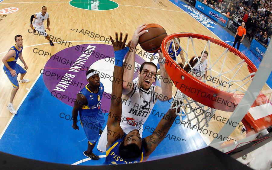Alex Maric Aleks Sport Kosarka Evroliga Euroleague Partizan Beograd Srbija Maccabi Makabi Tel Aviv Israel Belgrade Arena 1.4.2010. credit image photo: Pedja Milosavljevic / STARSPORT / +381 64 1260 959 / thepedja@gmail.com