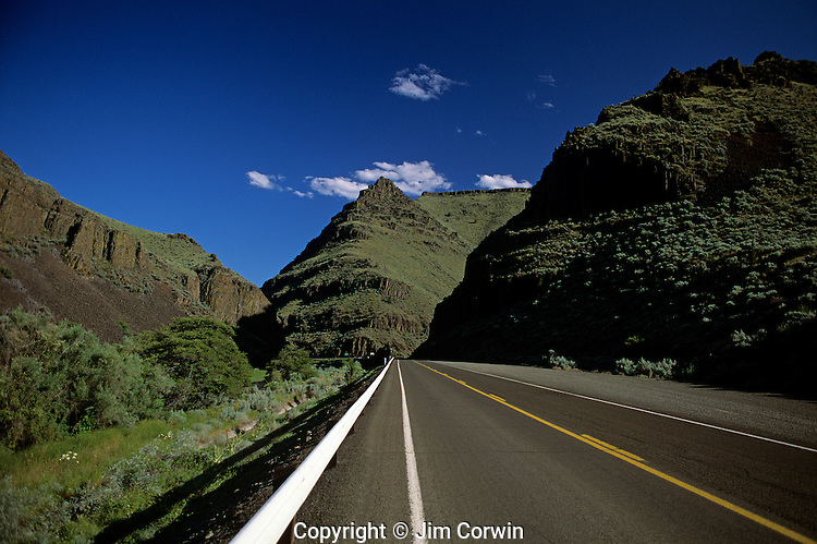 John Day Fossil beds Sheep Rock unit highway 19 Central Oregon State USA.