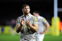 Dave Attwood of Bath Rugby acknowledges the crowd after the match. Aviva Premiership match, between Harlequins and Bath Rugby on November 27, 2016 at the Twickenham Stoop in London, England. Photo by: Patrick Khachfe / Onside Images