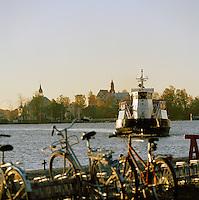 Ferry in Helsinki harbor, Finland