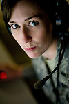 Mission commander, First Lieutenant Jamie Christopher poses for a portrait on the operations floor at Beale Air Force Base in Linda, Calif., April 30, 2010.