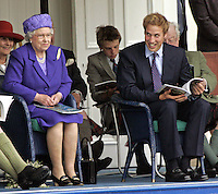 Queen Elizabeth II & Prince William attend the 2005 Braemar Highland Gathering..Picture: UK Press