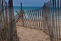 Beach fence in Falmouth, Cape Cod