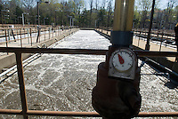 Aeration tanks at the Yonkers Sewage Treatment Plant in the city of Yonkers, NY in Westchester County on Saturday, April 25, 2009. (© Richard B. Levine)