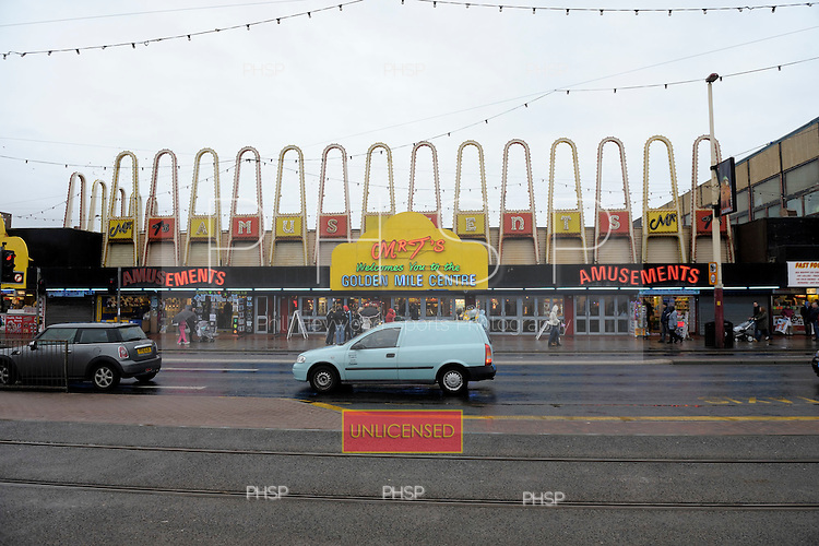 Mr T's Amusements,  Promenade, Blackpool Lancashire UK......© Phill Heywood.