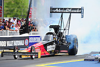 Jun. 19, 2011; Bristol, TN, USA: NHRA top fuel dragster driver Rod Fuller during eliminations at the Thunder Valley Nationals at Bristol Dragway. Mandatory Credit: Mark J. Rebilas-