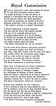Royal Commission, poem by Geoffrey Parsons.