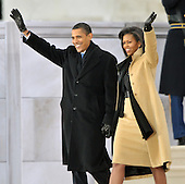 "Washington, DC - January 18, 2009 -- United States President-elect Barack Obama and Michelle Obama arrive for the  ""Today: We are One - The Obama Inaugural Celebration at the Lincoln Memorial"" in Washington, D.C. on Sunday, January 18, 2009..Credit: Ron Sachs / CNP.(RESTRICTION: NO New York or New Jersey Newspapers or newspapers within a 75 mile radius of New York City)"