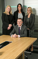 Pictured seated is Scott McKittrick, with from left, Melissa Chantrill, Jenny Colver and Su Garner