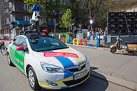 Special car attends the press conference on the Hungarian launch of Google Street View in Budapest, Hungary on April 23, 2013. ATTILA VOLGYI