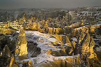 Snow Covered Magic in Fairyland, Cappadocia, Turkey