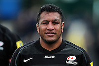 Mako Vunipola of Saracens looks on after the match. Aviva Premiership semi final, between Saracens and Leicester Tigers on May 21, 2016 at Allianz Park in London, England. Photo by: Patrick Khachfe / JMP