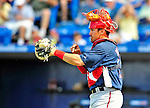 7 March 2009: Washington Nationals' catcher Luke Montz in action during a Spring Training game against the New York Mets at Tradition Field in Port St. Lucie, Florida. The Nationals defeated the Mets 7-5 in the Grapefruit League matchup. Mandatory Photo Credit: Ed Wolfstein Photo