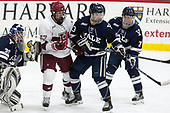 Patrick Spano (Yale - 30), Lewis Zerter-Gossage (Harvard - 77), Charlie Curti (Yale - 23), Joe Snively (Yale - 7) - The Harvard University Crimson tied the visiting Yale University Bulldogs 1-1 on Saturday, January 21, 2017, at the Bright-Landry Hockey Center in Boston, Massachusetts.