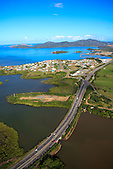 Pont de Dumbéa, route territoriale RT1 reliant Nouméa à Païta