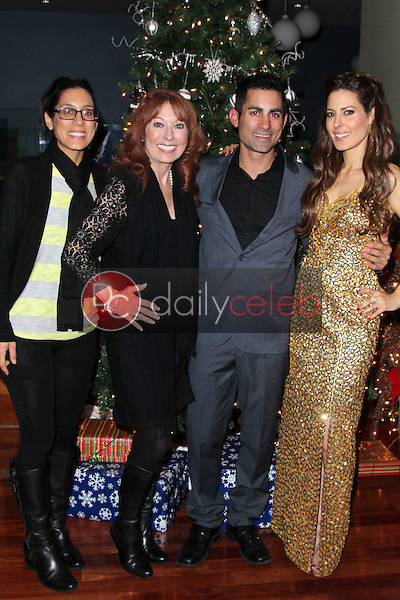 Julie Kasem, Linda Kasem, Mike Kasem, Kerri Kasem<br /> at the James Barbour Holiday Concert, Renaissance Hotel, Hollywood, CA 12-16-11<br /> David Edwards/DailyCeleb.com 818-249-4998