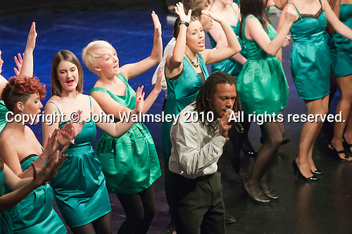 "The ACM Gospel Choir performing.  Special Olympics Surrey put on a show,   ""Beyond the Stars"", at the Rose Theatre, Kingston upon Thames to raise money for the  SOGB team.  The Special Olympics are for athletes with learning disabilities."