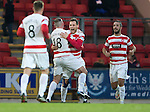 St Johnstone v Hamilton Accies...04.01.15   SPFL<br /> Tony Andreu celebartes his goal with Darian MacKinnon<br /> Picture by Graeme Hart.<br /> Copyright Perthshire Picture Agency<br /> Tel: 01738 623350  Mobile: 07990 594431