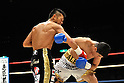 (L-R) Takashi Uchiyama (JPN), Jorge Solis (MEX), DECEMBER 31, 2011 - Boxing : Takashi Uchiyama of Japan in action against Jorge Solis of Mexico during the WBA super featherweight title bout at Yokohama Cultural Gymnasium in Kanagawa, Japan. (Photo by Hiroaki Yamaguchi/AFLO)