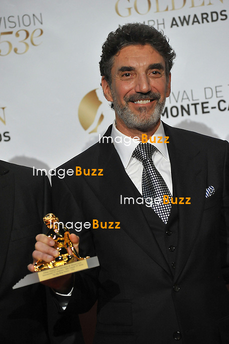 CPE/June 13, 2013-Chuck Lorre receives the Audience Awards during the closing ceremony of 53rd Monte-Carlo TV Festival. Golden Nymph Awards Photocall.