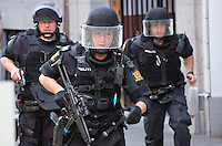 Armed police. Norwegian emergency services practice various scenarios related to violent attacks in a government building in the centre of Oslo.  <br />