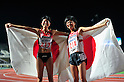 (L to R) Hitomi Niiya (JPN), Yuriko Kobayashi (JPN),JULY 9, 2011 - Athletics :The 19th Asian Athletics Championships Hyogo/Kobe, Women's 5000m Final at Kobe Sports Park Stadium, Hyogo ,Japan. (Photo by Jun Tsukida/AFLO SPORT) [0003]