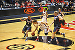 "Ole Miss' Kenyotta Jenkins (11), Ole Miss' Valencia McFarland (3), Belmont's Adrienne Tarrence (1), Belmont's Jordyn Luffman 913), and Belmont's Alyssa Visbeen (50) chase the ball at the C.M. ""Tad"" Smith Coliseum in Oxford, Miss. on Sunday, December 16, 2012. Ole Miss won 63-48."