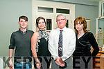 Double Celebration: Father & daughter Eoin & Eibhlis Moriarity, Listowel celebrating their 60th & 21st birthdays at the Listowel Arms Hotel on Saturday night last, L-R : Eoghan, Eibhlis, Eoin & Sharon Moriarity.