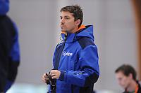 SCHAATSEN: LEEUWARDEN: 08-10-2015, Elfstedenhal, shorttrack time trial, assistent trainer/coach Kip Capenter, ©foto Martin de Jong