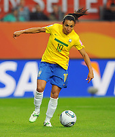Marta of team Brazil during the FIFA Women's World Cup at the FIFA Stadium in Wolfsburg, Germany on July 3rd, 2011.