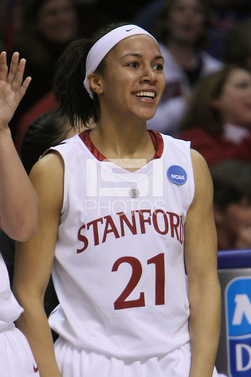 29 March 2008: Rosalyn Gold-Onwude during Stanford's 72-53 win over Pitt in the sweet sixteen game of the NCAA Division 1 Women's Basketball Championship in Spokane, WA.