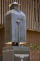 Father Damien Statue at Hawaii State Capitol; Honolulu, Hawaii. A full-size replica of a statue in the U.S. Capitol.
