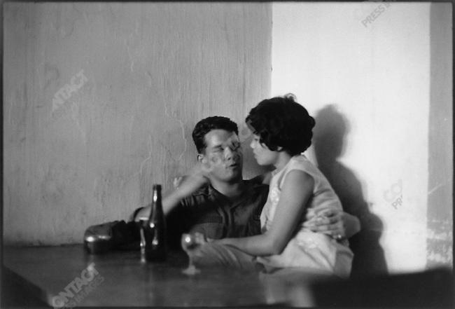 The Vietnam War, US soldier with Vietnamese prostitute, Saigon, South Vietnam, November 1967