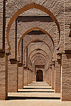 Archway inside the Tinmal mosque, Morocco.
