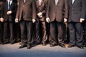 RAWA MAZOWIECKA, POLAND, JUNE 14, 2010:.Jaroslaw Kaczynsk, second from left,i on the campaign trail in Rawa Mazowiecka..(Photo by Piotr Malecki / Napo Images)..RAWA MAZOWIECKA, 14/06/2010:.Jaroslaw Kaczynski, drugi z lewej. Spotkanie z wyborcami..Fot: Piotr Malecki / Napo Images.