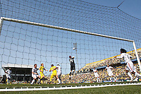 27 MARCH 2010:  Zac Herold of Toronto FC punches the ball out during the Toronto FC at Columbus Crew MLS game in Columbus, Ohio on March 27, 2010.