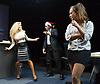 Saxon Court <br /> by Daniel Andersen <br /> at Southwark Playhouse, London, Great Britain <br /> press photocall <br /> 24th November 2014 <br /> <br /> Alice Franklin as Tash <br /> John Pickard as Joey <br /> Sophie Ellerby as Nat <br /> <br /> <br /> Photograph by Elliott Franks <br /> Image licensed to Elliott Franks Photography Services