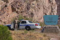 A police officer hold back traffic to allow for filming on one location of the movie &quot; Transformers 5 The Last Knight &quot; , E7, being filmed near Theodore Roosevelt Dam in Arizona. The film has just started filming and further filming will take place in locations like Detroit, Ireland, Great Britan and Iceland. <br />
