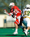 30 April 2011: Stony Brook Seawolves' attacker Tom Compitello, a Senior from Hauppauge, NY, in action against the University of Vermont Catamounts on Moulton Winder Field in Burlington, Vermont. The Catamounts fell to the visiting Seawolves 12-9 to conclude their America East season. Mandatory Credit: Ed Wolfstein Photo