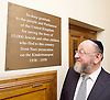 Kinderstransport plaque in Parliament, Westminster, London, Great Britain <br /> 27th January 2017 <br /> <br /> Chief Rabbi and Archbishop of Canterbury to mark Holocaust Memorial Day with Lord Dubs at rededication of Kindertransport plaque in Parliament<br />  <br /> 20 years ago the Committee of the Reunion of the Kindertransport donated a plaque to Parliament commemorating Britain&rsquo;s act of generosity to Jewish children in Nazi-occupied Europe. On Holocaust Memorial Day [27 January 2017], the plaque will be rededicated in the presence of newly arrived child refugees who were reunited with their families from Calais last year by Safe Passage, a project of Citizens UK. <br />  <br /> The ceremony will be particularly poignant as it will be attended by Lord Dubs, himself a Kindertransport survivor, who passed an amendment to the Immigration Act last year, with the Government's support, affording sanctuary in the UK to some of the most vulnerable lone child refugees in Europe.<br />  <br /> Chief Rabbi, Ephraim Mirvis, <br /> <br /> <br /> <br /> <br /> <br /> Photograph by Elliott Franks