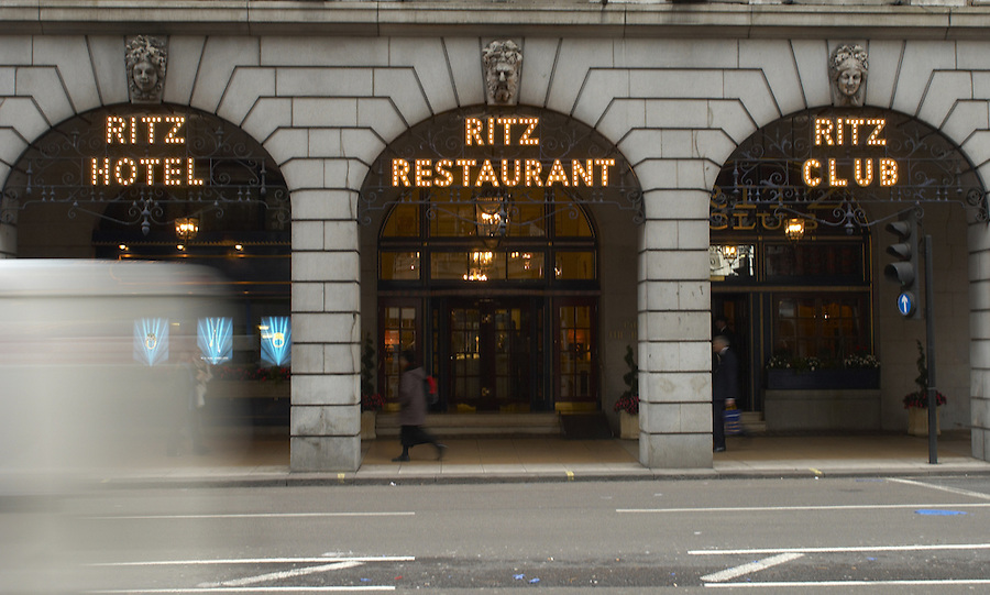 The Ritz Hotel, one of the most prestigious hotels in the UK,  Piccadilly, London