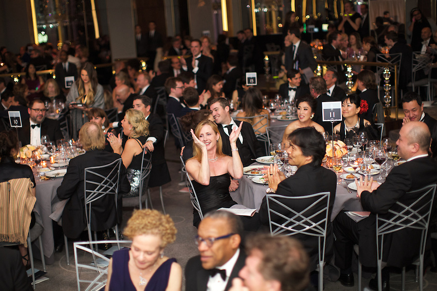 New York, NY - November 13, 2015: Auction bidding at the James Beard Foundation's annual Gala at the Rainbow Room in Rockefeller Center.<br /> <br /> <br /> CREDIT: Clay Williams for the James Beard Foundation.<br /> <br /> &copy; Clay Williams / claywilliamsphoto.com
