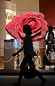 Massive rose created from 6,000 lipsticks in Shiseido Ginza