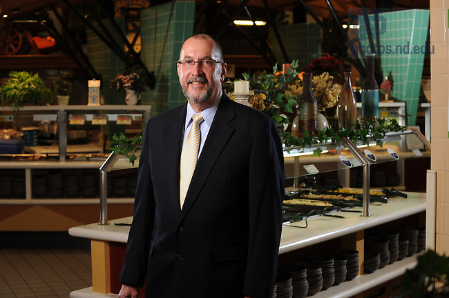 Jim Yarbrough in the South Dining Hall for the Business Operations Annual Report