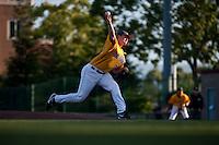 SANTA CLARA, CA--Starting pitcher Erik Johnson delivers during a 6-2 win over Dallas Baptist University at Stephen Schott Stadium on the Santa Clara University campus in Santa Clara, CA. The win gives the Cal Bears a berth to the College World Series in Omaha, Nebraska. SUNDAY, JUNE 12, 2011.