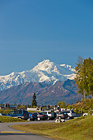 "Southside view of Mount McKinley ""Denali"", North America's tallest peak at approximately 20,237 ft. (6,168m). Alaska."