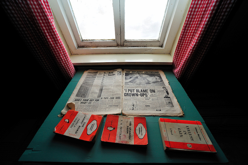 Penguins read? - Reading matter found when the Port Lockroy research station was being conserved after standing empty for about 20 years.